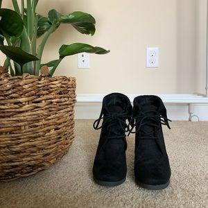 Wedge heeled booties